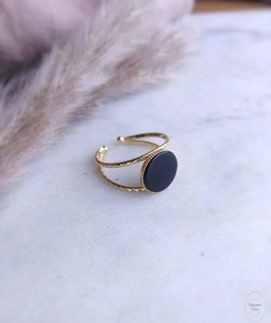 Monstro Diva - Bague First - onyx