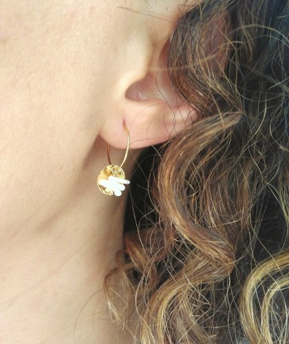 Boucles d'oreille coquillage Monstro Diva